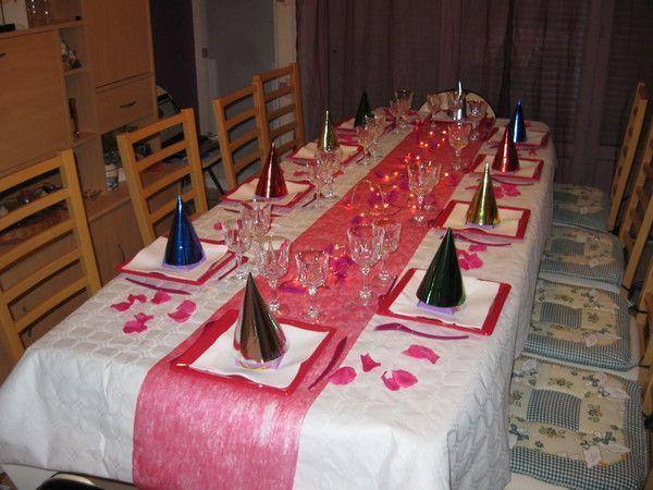 Decoration Table Blanc Et Gris Rouge
