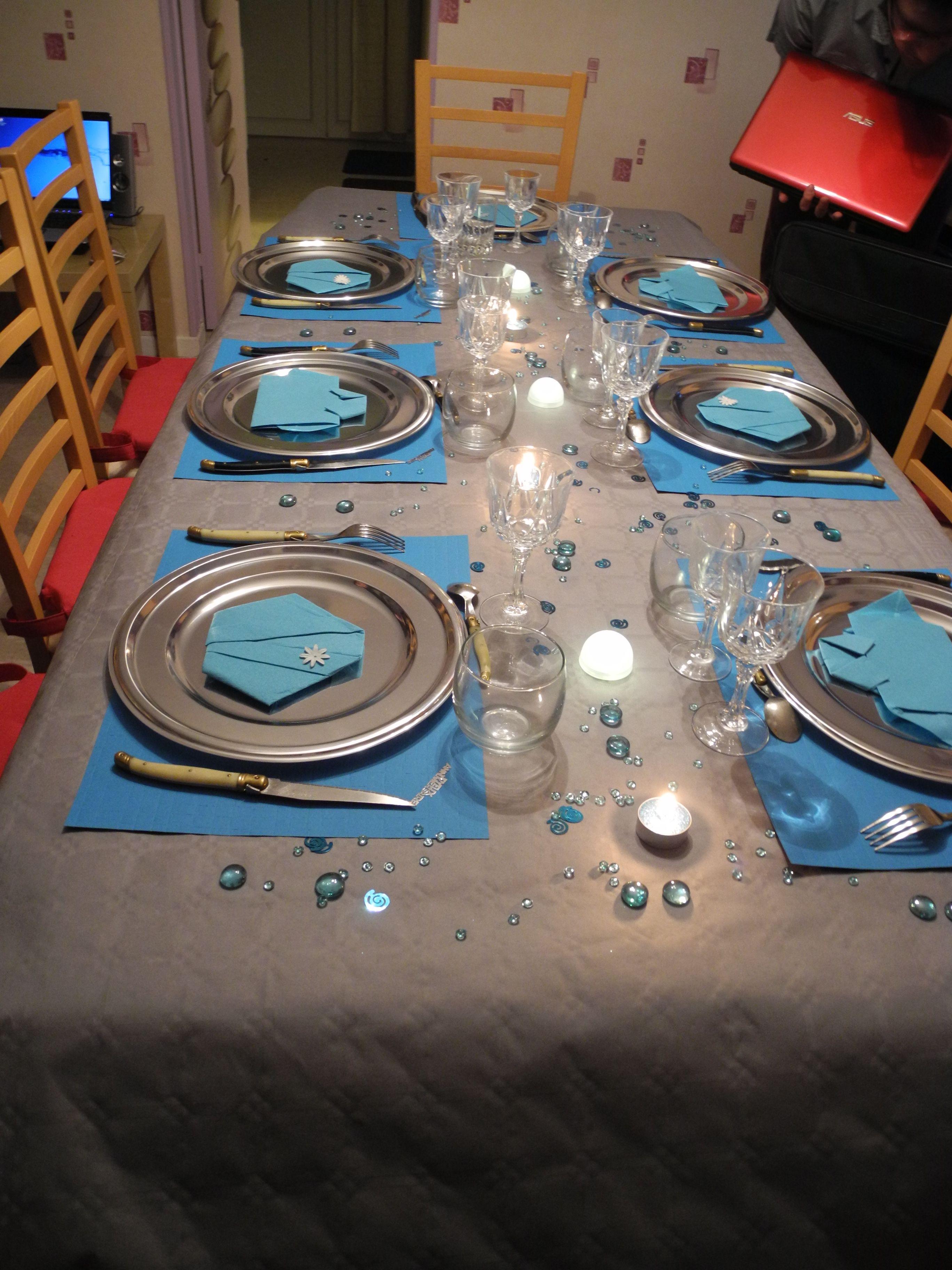 Anniversaire turquoise et gris for Turquoise et gris